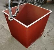 Металлический мусорный контейнер для ТБО