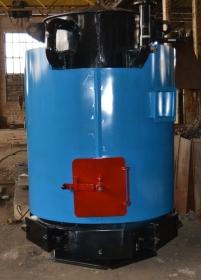 Водогрейный стальной котел КСВ-0,3 на твердом топливе