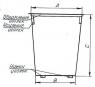 Мусорный контейнер, схема